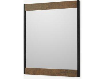 Maxine, miroir mural 50 x 58cm, bois de manguier et noir