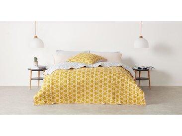 Agadir, couvre-lit, Gris et jaune safran