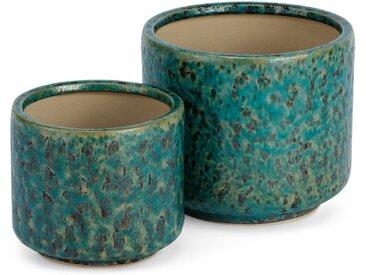 Constan, lot de 2 cache-pots en céramique, bleu