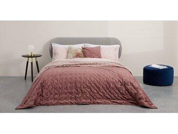 Tabitha, couvre-lit en velours matelassé 225 x 220 cm, rose poudré