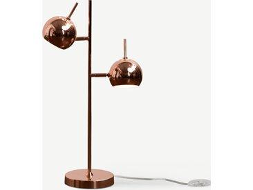 Austin, lampe de bureau 2 spots, cuivre