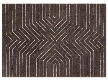 Moldan, grand tapis doux 160 x 230 cm, gris charbon