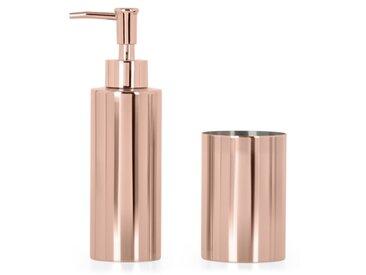 Lilo, ensemble distributeur de savon et gobelet, cuivre
