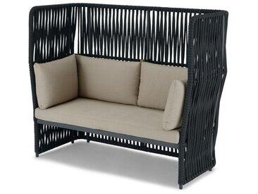 Dalat, canapé d'extérieur 2 places, gris