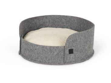 Hyko, lit rond en feutre pour animal de compagnie Small, gris