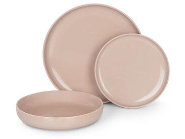 Leah, service de 12 pièces en porcelaine, rose