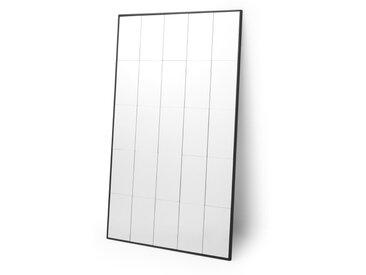 Ludlow, grand miroir industriel 160 x 100 cm, noir mat
