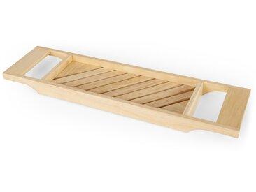 Robin, pont tablette de baignoire en bois, fini naturel