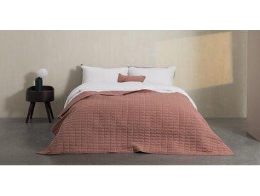 Dorin, couvre-lit matelassé 130 x 200 cm, rose poudré