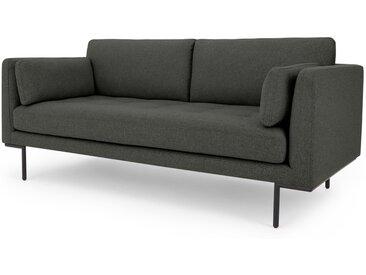 Harlow, grand canapé 2 places, gris anthracite