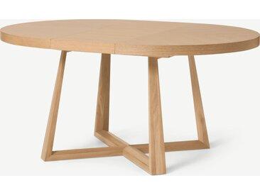 Belgrave, table ronde extensible 4 à 6 personnes, chêne