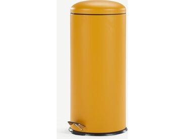 Joss, poubelle dôme à pédale 30L, jaune