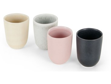 Ingram, lot de 4 tasses, blanc ivoire, gris anthracite et terracotta