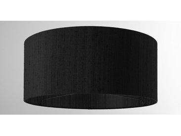 Idris, abat-jour en soie 45 x 20 cm, noir