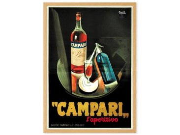 Campari Vintage Drinks Framed Wall Art Print (More Sizes Available)