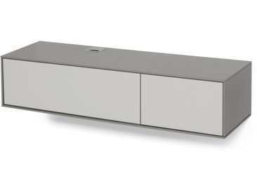 Stretto, meuble TV mural, gris