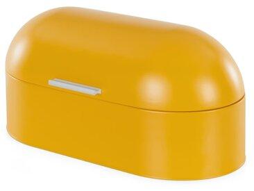 Benita, boîte à pain à couvercle dôme, jaune moutarde