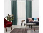 Julius, paire de rideaux doublés à œillets 135 x 260 cm, velours bleu ardoise