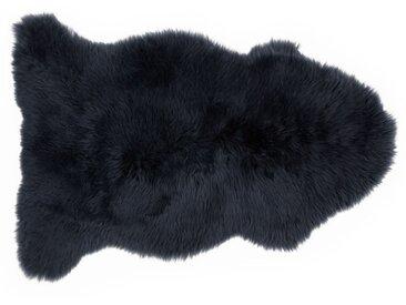 Helgar, peau de mouton 60 x 90 cm, bleu nuit