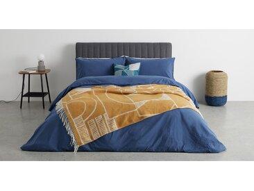 Cassar, couvre lit 125 x 170 cm, jaune moutarde
