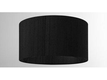Idris, abat-jour en soie 30 x 16 cm, noir