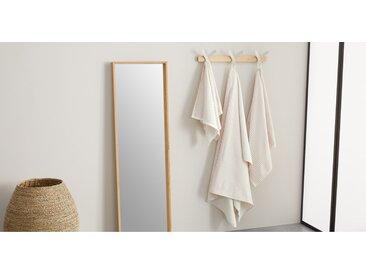 Santorini lot de 2 serviettes de bain à rayures, rose