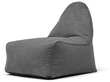 Ayra, fauteuil poire, gris marne