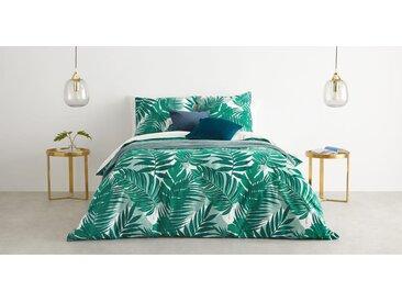 Jangala linge de lit 100% coton, king size (240 x 220), imprimé vert