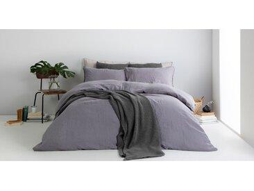 Grove, couvre-lit gaufré 100% coton délavé 150 x 200 cm, gris charbon