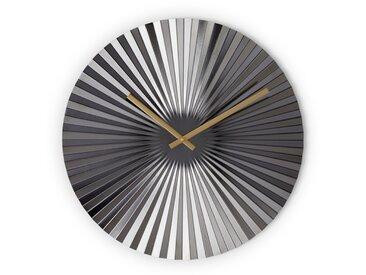 Bushwick, grande horloge murale, 50 cm de diamètre, gris acier