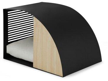 Talo, niche cabane d'extérieur pour animal de compagnie Medium, noir