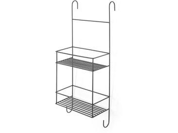 MADE Essentials - Calypso, étagère de douche à suspendre, métal noir