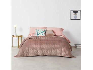 Julius, couvre-lit 225 x 220 cm, velours rose pâle