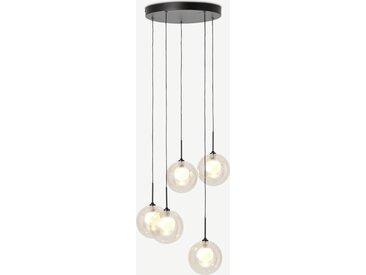 Masako, lustre LED, verre champagne et opale