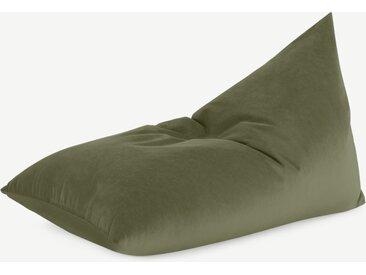 Andra, fauteuil poire, velours vert sycomore