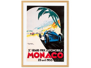 Monaco Vintage Travel Framed Wall Art Print (More Sizes Available)