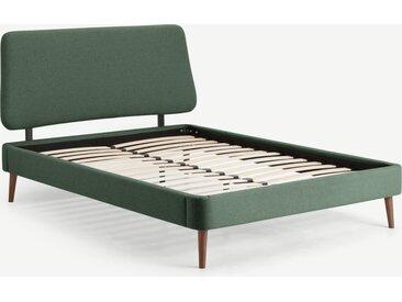 Lowrie, lit double (140 x 200) avec sommier à lattes, vert Darby