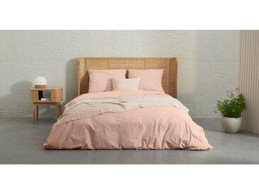 Zana linge de lit 100% coton lavé biologique, king size (240 x 220), rose tendre