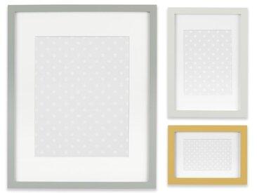 Trenton, ensemble de 3 cadres façon galerie, jaune moutarde et gris