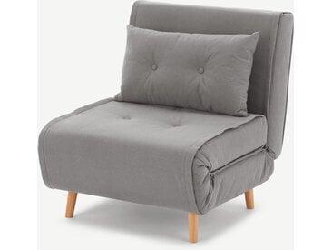 Haru, fauteuil convertible, gris chamallow