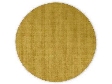 Jago, tapis rond, 200 cm de diamètre, doré vintage