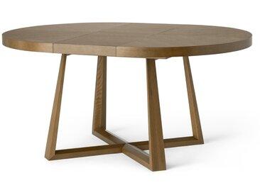 Belgrave, table à rallonge 4 à 6 personnes, chêne teinté foncé