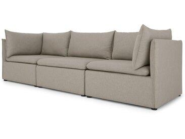 Victor, canapé modulable 3 places avec compartiment de rangement, gris agate