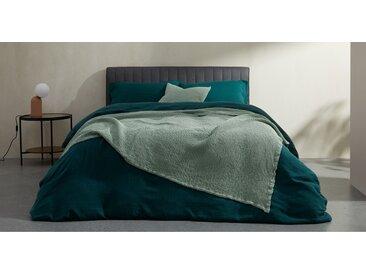 Grove, couvre-lit gaufré 100% coton délavé 150 x 200 cm, vert doux