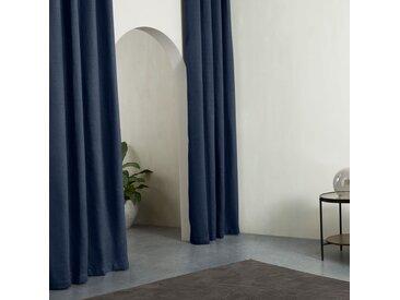 Marzia, paire de rideaux à œillets 135 x 260 cm, bleu minuit
