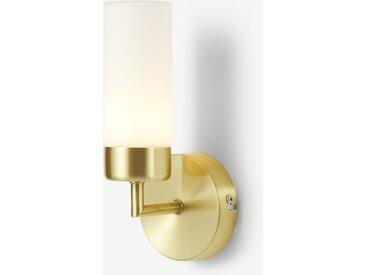 Eddis, applique murale LED pour salle de bain, laiton brossé