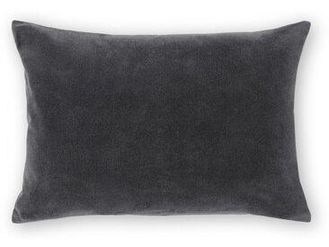 Lorna, coussin en velours 35 x 50 cm, gris charbon