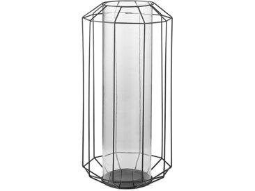 Zachery, grande lanterne, noir
