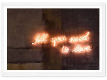 All You Need Is Love, photographie en couleur et cadre blanc format A1