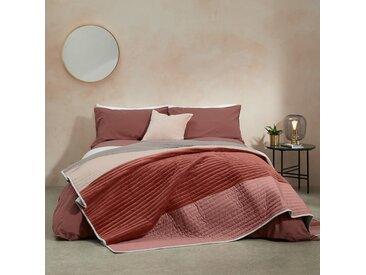 Giacomo, couvre-lit patchwork en velours, rouge et naturel